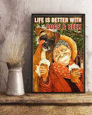 Life is better with Dogs and Beer 24x36 Poster lifestyle-poster-3
