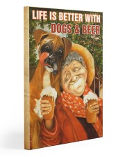 Life is better with Dogs and Beer Gallery Wrapped Canvas Prints tile
