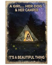 Camping poster 11x17 Poster front