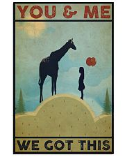 Giraffe You and Me Vertical Poster tile