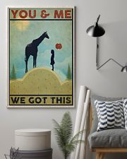 Giraffe You and Me 24x36 Poster lifestyle-poster-1