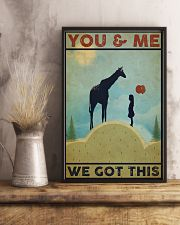 Giraffe You and Me 24x36 Poster lifestyle-poster-3