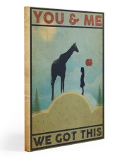 Giraffe You and Me Gallery Wrapped Canvas Prints tile