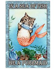 Cat Be A Purrmaid 24x36 Poster front