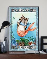 Cat Be A Purrmaid 24x36 Poster lifestyle-poster-2