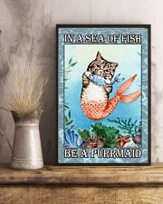 Cat Be A Purrmaid 24x36 Poster lifestyle-poster-3