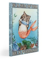 Cat Be A Purrmaid Gallery Wrapped Canvas Prints tile