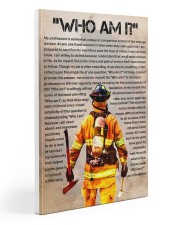 firefighter  poster 20x30 Gallery Wrapped Canvas Prints front