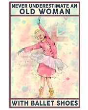 Old Woman with Ballet shoes 11x17 Poster front