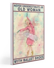 Old Woman with Ballet shoes Gallery Wrapped Canvas Prints tile