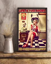 Hairstylist Life Is Too Short 24x36 Poster lifestyle-poster-3