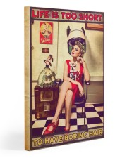 Hairstylist Life Is Too Short Gallery Wrapped Canvas Prints tile