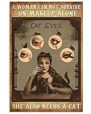 Makeup cat eyes 24x36 Poster front