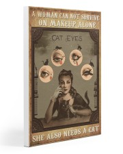 Makeup cat eyes Gallery Wrapped Canvas Prints tile