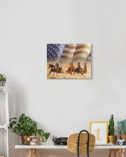 horse canvas 14x11 Gallery Wrapped Canvas Prints aos-canvas-pgw-14x11-lifestyle-front-03