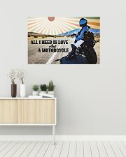 All I Need Is Love And A Motorcycle 36x24 Poster poster-landscape-36x24-lifestyle-01
