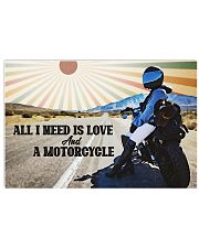 All I Need Is Love And A Motorcycle Horizontal Poster tile