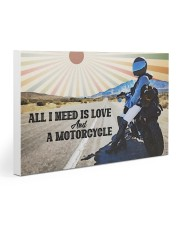 All I Need Is Love And A Motorcycle Gallery Wrapped Canvas Prints tile