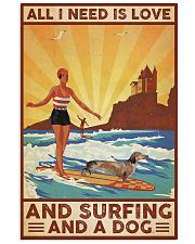 Love Surfing and Dog Vertical Poster tile