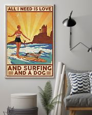 Love Surfing and Dog 24x36 Poster lifestyle-poster-1