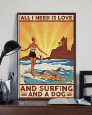 Love Surfing and Dog 24x36 Poster lifestyle-poster-2