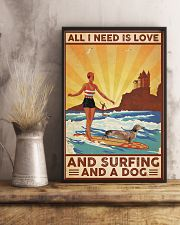 Love Surfing and Dog 24x36 Poster lifestyle-poster-3
