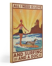 Love Surfing and Dog Gallery Wrapped Canvas Prints tile