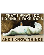 Beer Drink and Know Things Horizontal Poster tile