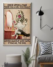 Love makeup and cats 24x36 Poster lifestyle-poster-1