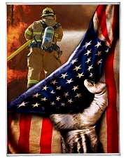 "blanket 13 firefighter Large Fleece Blanket - 60"" x 80"" front"