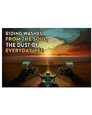 Biker Riding poster 17x11 Poster front