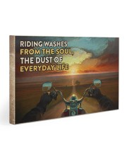 Biker Riding poster Gallery Wrapped Canvas Prints tile