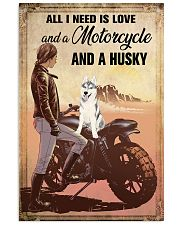 Motorcycle and Husky 11x17 Poster front
