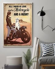 Motorcycle and Husky 11x17 Poster lifestyle-poster-1