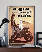 Motorcycle and Husky 11x17 Poster lifestyle-poster-2
