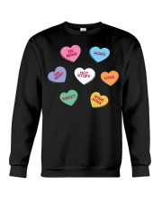 men women kids valentines day conversation hearts  Crewneck Sweatshirt thumbnail