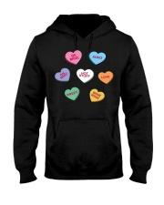 men women kids valentines day conversation hearts  Hooded Sweatshirt thumbnail