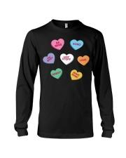 men women kids valentines day conversation hearts  Long Sleeve Tee thumbnail