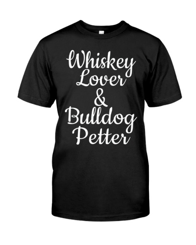 awesome whiskey lover bulldog petter t shirt dog l