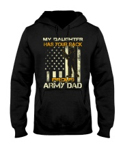 my daughter has your back proud army dad t shirt f Hooded Sweatshirt thumbnail