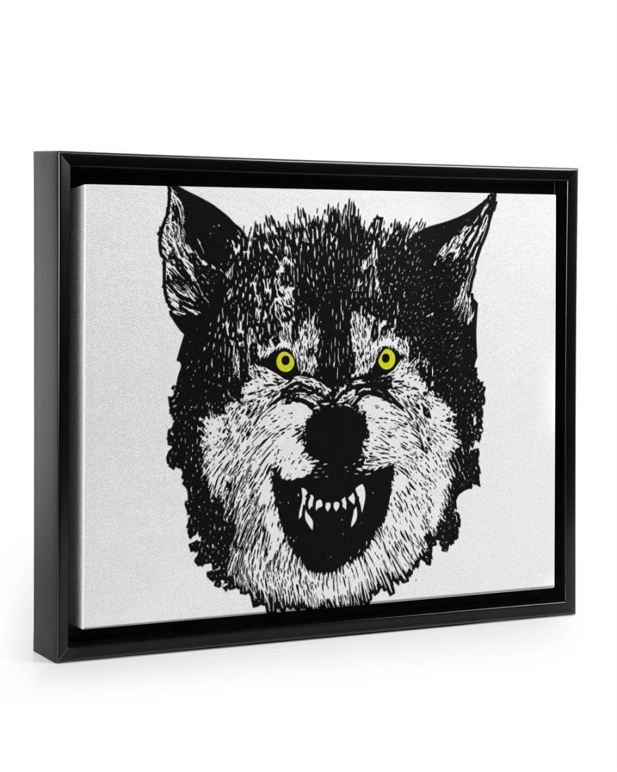 Wolf II Classic T-Shirt 14x11 Black Floating Framed Canvas Prints
