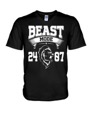 Beast Mode 24 07 V-Neck T-Shirt tile