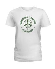 WINDMILL CANCER SURVIVOR Ladies T-Shirt thumbnail