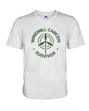 WINDMILL CANCER SURVIVOR V-Neck T-Shirt thumbnail