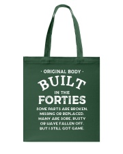 BUILT IN THE FORTIES Tote Bag thumbnail