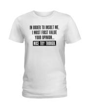 NICE TRY THOUGH Ladies T-Shirt thumbnail