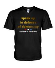 speak up V-Neck T-Shirt thumbnail