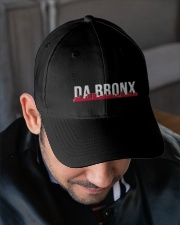 DA BRONX HAT with RED Embroidered Hat garment-embroidery-hat-lifestyle-02