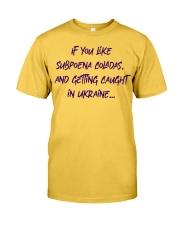 SUBPOENA COLADAS Classic T-Shirt front