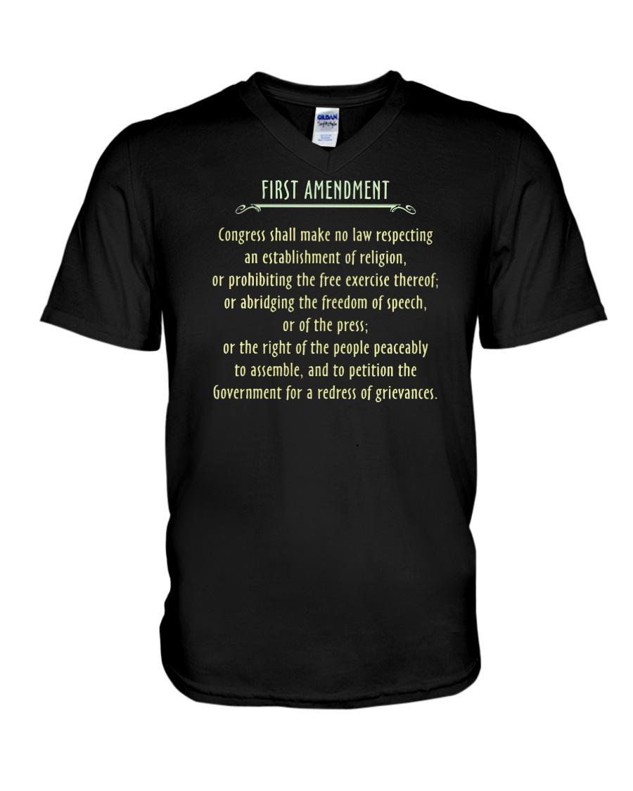 FIRST AMENDMENT V-Neck T-Shirt